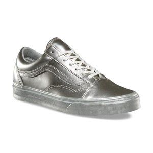 VANS Old Skool Metallic Sidewall Silver Sneaker